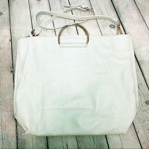 Laura Di Maggio Genuine Leather White Bag
